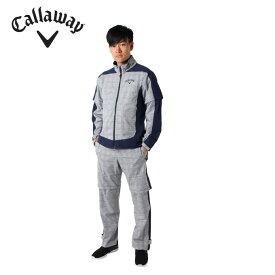 キャロウェイ ゴルフ レインウェア上下セット メンズ 4WAY チェック 241-9988501 Callaway