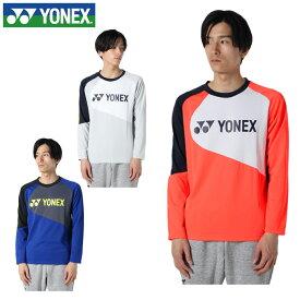 ヨネックス テニスウェア スウェットトレーナー メンズ ライトトレーナー フィットスタイル 31034 YONEX