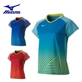 ミズノ テニスウェア バドミントンウェア ゲームシャツ レディース ゲームシャツ ラケットスポーツ 72MA9202 MIZUNO