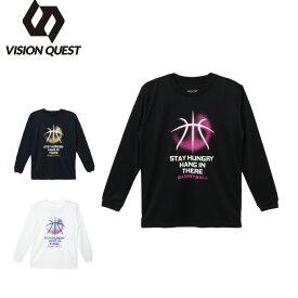 バスケットボール 長袖シャツ ジュニア プリントTシャツ VQ570414I04 ビジョンクエスト VISION QUEST