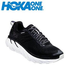 ホカ オネオネ HOKA ONEONE ランニングシューズ メンズ CLIFTON 6 クリフトン ワイド 1102876 BWHT