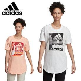 アディダス Tシャツ 半袖 レディース MH グラフィック Tシャツ FYM94 adidas