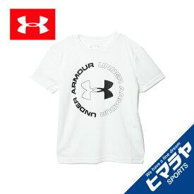 アンダーアーマー Tシャツ 半袖 ジュニア テックデザインロゴ 1355021-100 UNDER ARMOUR