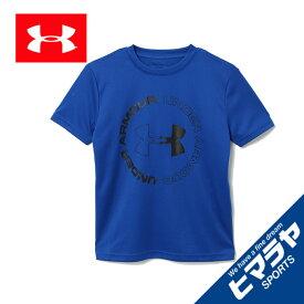 アンダーアーマー Tシャツ 半袖 ジュニア テックデザインロゴ 1355021-400 UNDER ARMOUR