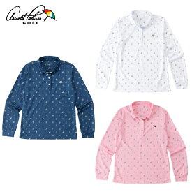 アーノルドパーマー arnold palmer ゴルフウェア ポロシャツ 長袖 レディース 飛柄長袖ポロシャツ AP220402I01