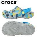 クロックス サンダル ジュニア Kids' Classic Seasonal Graphic Clog クラシック シーズナル グラフィック クロッグ キッズ 205620-007 crocs
