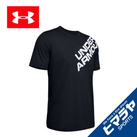 【ポイント10倍 9/24 1:59まで】 アンダーアーマー Tシャツ 半袖 メンズ ワードマーク ショルダー ショートスリーブ 1344227-001 UNDER ARMOUR
