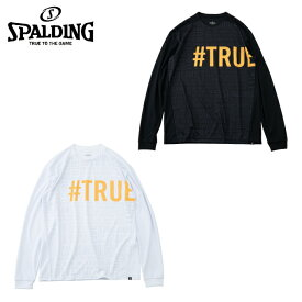 スポルディング SPALDING バスケットボール 長袖シャツ メンズ レディース L/S T-SHIRT - TRUE PRINT L/S Tシャツ - トゥループリント SMT191040