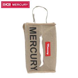 マーキュリー ティッシュカバー キャンバス NEWティッシュボックスカバー サンドベージュ MECANTBE MERCURY