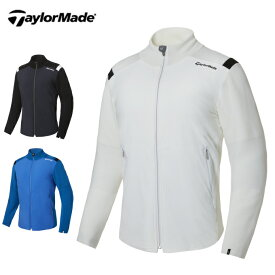 テーラーメイド TaylorMade ゴルフウェア セーター メンズ ファブリックMIXフルジップセーター KY529