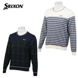 スリクソン SRIXON ゴルフウェア セーター メンズ ジャガードクルーネックセーター RGMOJL03