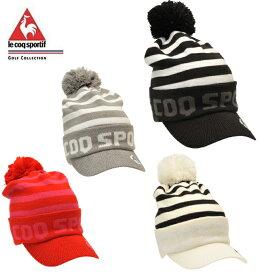 ルコック le coq sportif ゴルフ ニット帽 レディース つば付きニットキャップ QGCOJC07