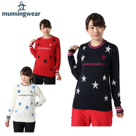 マンシング Munsingwear ゴルフウェア セーター レディース スター柄クルーネック MGWOJL02X