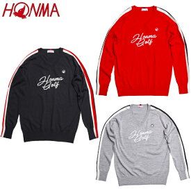 本間ゴルフ HONMA ゴルフウェア セーター メンズ ジャガードVネックセーター 951-733212