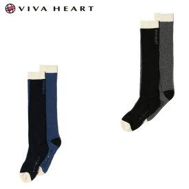 ビバハート VIVA HEART ゴルフ ソックス レディース 2トーンハイソックス 013-41862