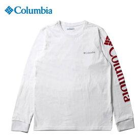 コロンビア Tシャツ 長袖 メンズ コロンビアロッジ LSグラフィックT EE0076 100 Columbia