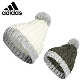 アディダス ゴルフ ニット帽 レディース ウィメンズ 2トーンケーブルビーニー FWZ17 adidas