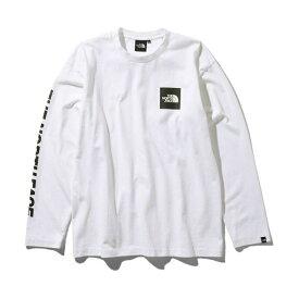 ノースフェイス Tシャツ 長袖 メンズ L/S Square Logo Tee ロングスリーブスクエアロゴティー NT81931 W THE NORTH FACE