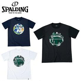スポルディング バスケットボールウェア 半袖シャツ メンズ レディース Tシャツ マーブルボール SMT191200 SPALDING