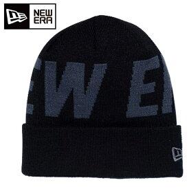 ニューエラ NEW ERA ゴルフ ニット帽 メンズ ベーシック カフニット ビルボード NEW ERA ロゴ ブラック 12108833