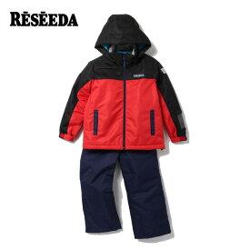 スキーウェア 130〜160cm 上下セット ジュニア 子供 ボーイズ 男の子 スノーウェア サイズ調整機能付き RES72003 レセーダ RESEEDA