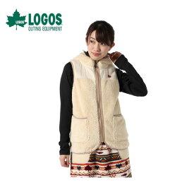 ロゴス LOGOS ベストジャケット ジュニア モコモコソフト 9486-4352 28 Ivory