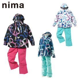 スキーウェア 130〜160cm 上下セット ジュニア 子供 ガールズ 女の子 スノーウェア サイズ調整機能付き JR-9012 ニーマ nima