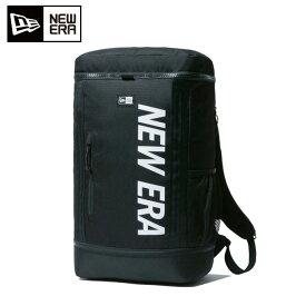 ニューエラ バックパック 32L メンズ レディース ボックスパック プリントロゴ ブラック × ホワイト 11901528 NEW ERA