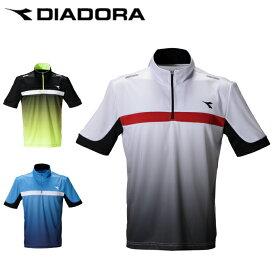 ディアドラ DIADORA テニスウェア ゲームシャツ メンズ ZIPゲームシャツ DTG0335