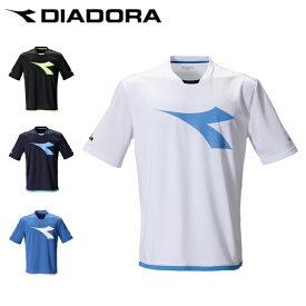 ディアドラ DIADORA テニスウェア ゲームシャツ メンズ Tシャツ ビッグロゴ DTP0536