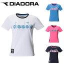 ディアドラ テニスウェア Tシャツ 半袖 レディース Tシャツ Wビッグ5ボール DTP0596 DIADORA