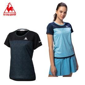 ルコック テニスウェア Tシャツ 半袖 レディース シャンブレー半袖シャツ QTWPJA04 le coq sportif