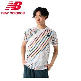 ニューバランス ランニングウェア Tシャツ 半袖 メンズ HANZO RACE レース ショートスリーブ AMT01200 WT new balance