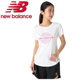 ニューバランス ランニングウェア Tシャツ 半袖 レディース SAKURA グラフィックショートスリーブTシャツ サクラ AWT0108Y WT new balance