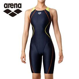アリーナ FINA承認 競泳水着 レディース AQUA RACING アクアレーシング セイフリーバックスパッツ 着やストラップ ARN-0050W-NVYL arena