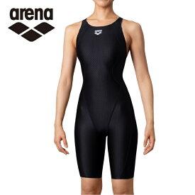 アリーナ FINA承認 競泳水着 レディース AQUA RACING アクアレーシング セイフリーバックスパッツ 着やストラップ ARN-0050W-BKBK arena