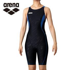 アリーナ トレーニング水着 レディース TOUGHSUIT-flex タフスーツフレックス セイフリーバックスパッツ 着やストラップ SAR-0150W-BKBU arena