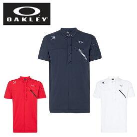 オークリー ゴルフウェア ポロシャツ 半袖 メンズ Skull Rear Message Shirts スカル リア メッセージ シャツ FOA400793 OAKLEY