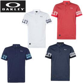 オークリー ゴルフウェア ポロシャツ 半袖 メンズ Skull Split Sleeve Shirts スカル スピリット スリーブ シャツ FOA400798 OAKLEY