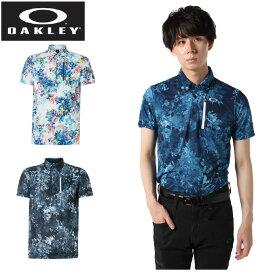 オークリー ゴルフウェア ポロシャツ 半袖 メンズ グラフィック花柄半袖シャツ FOA400801 OAKLEY