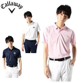 キャロウェイ ゴルフウェア ポロシャツ 半袖 メンズ シンプル鹿の子半袖シャツ 241-0134502 Callaway