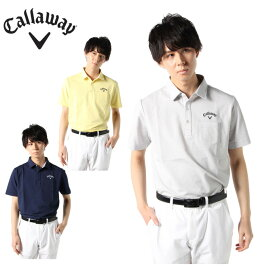 キャロウェイ ゴルフウェア ポロシャツ 半袖 メンズ サッカーストライプ半袖シャツ 241-0134509 Callaway