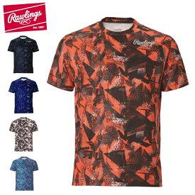ローリングス 野球ウェア 半袖Tシャツ メンズ レディース コンバット トライアングルTシャツ AST10S02 Rawlings