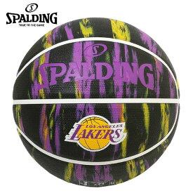 スポルディング バスケットボール 7号球 レイカーズ マーブル ブラック ラバー 7号球 84-095J 屋外用 SPALDING
