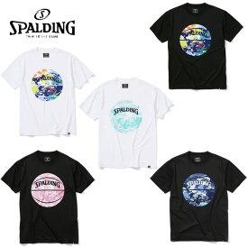 スポルディング SPALDING バスケットボールウェア 半袖シャツ メンズ ウォーターマーブルボール半袖Tシャツ SMT200200