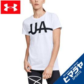 アンダーアーマー Tシャツ 半袖 レディース UAグラフィック ショートスリーブ 1352066-100 UNDER ARMOUR