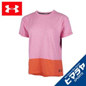 アンダーアーマー Tシャツ 半袖 レディース UAチャージドコットン ショートスリーブ トレーニング WOMEN 1355585-691 UNDER ARMOUR