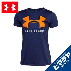 アンダーアーマー Tシャツ 半袖 レディース UAテック ビッグロゴ グラフィック Tシャツ 1359128-410 UNDER ARMOUR