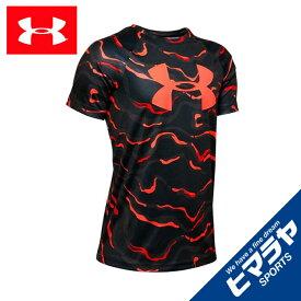 アンダーアーマー Tシャツ 半袖 ジュニア UAテック ビッグロゴ プリント ショートスリーブ トレーニング BOYS 1351851-002 UNDER ARMOUR