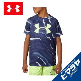 アンダーアーマー Tシャツ 半袖 ジュニア UAテック ビッグロゴ プリント ショートスリーブ 1351851-497 UNDER ARMOUR